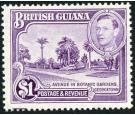 SG317a. 1951 $1 Bright violet. Perf. 14x13. Superb fresh U/M min