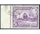 SG317a. 1951 $1 Bright violet. Perf. 14x13. Superb fine used...